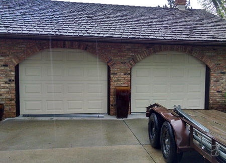 Flush Panel Garage Doors in North Carolina - Image